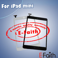 Wholesale For iPad mini Touch Screen Digitizer with home butoon adhesive Free DHL Shipping