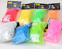 8-11 Years Multicolor Silicone Popular fluorescent loom bands Luminous noctilucent rainbow loom rubber bands glow in dark loom bands diy bracelet kits dhl free promot