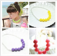 Wholesale 12pcs High Fashion Candy Color Necklace bracelet Children Jewelry For Girls baby Products L601