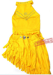 Wholesale New Latin dance costumes ballet tutus beaded tassel dress stage wear costume dancing competition clothes dance top clothing lm001