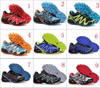 Wholesale 2014 New Salomon Speedcross cross country running waterproof shoes outdoor Sneakers shoes US7 US11