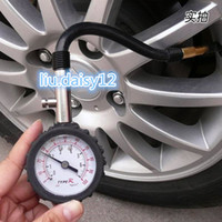 Wholesale DHL FREE Long tube deflated tire gauge high precision tire gauge the rubber tire pressure table