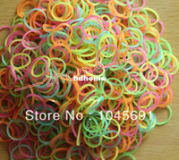 Fashion Bracelets Yes Free Shipping Glow In The Dark Rubber Bands Refills Packs Colorful Loom Bands With 600 Bands+24 S-Clips