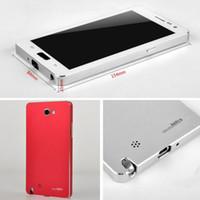 Cheap For Samsung Note 3 N9000 Cases Best Metal Black Aluminum Metal Case