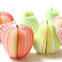 Wholesale 1404L Children s creative personalized stationery office supplies stationery DIY paper notes apple pear fruit notes this