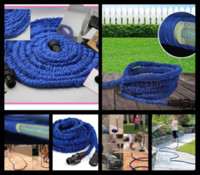 Rubber DIN Water Hose 40Pcs lot 100% high quality retractable hose 75FT Garden hose Blue color fast connector water hose S03