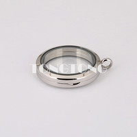 Wholesale 30mm magnetic closure silver L stainless steel floating locket without crystals