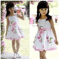 Wholesale 2014 Han edition detonation tulip skirt Girls dress Summer style skirt with shoulder straps LIANYIQUN002
