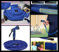 Wholesale 30Pcs high quality retractable hose FT Garden hose Blue color fast connector water hose with Water gun S06