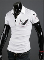 Men Round British Noble Fashion 2014 new men's short-sleeved polo shirt men's polo shirt Eagle Short Sleeve-CZJ843H