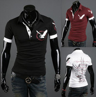 Men Round British Noble Fashion 2014 new men's short-sleeved polo shirt T-shirt Eagle Short Sleeve 3 colors-CZJ844H