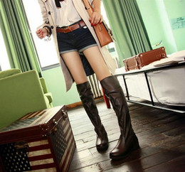 Wholesale Top quality Attack on Titan knee high COSPLAY shoes spring and autumn thin section high boot Martin knight boots large size