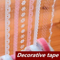 scrapbooking supplies - 18 Lace Adhesive tape Washi tape Masking tape Decorative stickers Stationery for scrapbooking foto School supplies