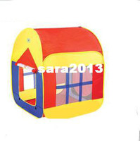 other other 90*86cm 2014 Hot Sale Free Shippig Children Light Yellow Yurts In&Outdoor Pop Up House Kids Play Tent TN33 Free Shipping+Gift