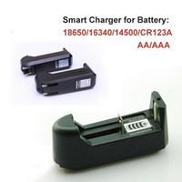 Wholesale 100PCS Universal Battery Charger for Rechargeable Li ion Ecigarette Battery AA AAA CR123A US EU Plug Via DHL