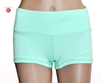 Wholesale 2014 New Lululemon Groove Boogie Short Yoga Hot Pants Skinny Shorts Slim Fit Sexy Chafe Resistant Tight Knit Sexy Multi Color Size