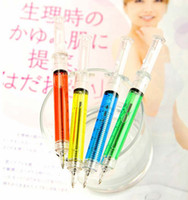 syringe ball pen - Promotion Colors plastic Syringe pen Ball point pen Promotional pen gift pens
