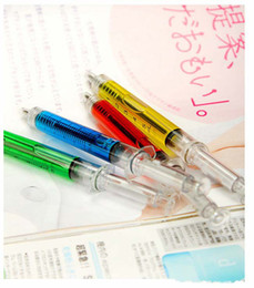 Wholesale Fedex Shipping Colors plastic Syringe pen Ball point pen Promotional pen gift