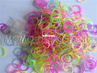Fashion Bracelets Yes Applicable to Rainbow loom Refill Bands 200bags glow in the dark rubber Bands DIY loom kits wholesale