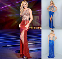 2014 Sublimate Sheath Column Prom Dresses One Shoulder Sweep...