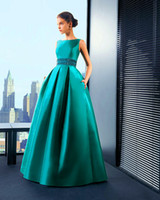 free shipping - Custom Size New Green Beading Scoop Sleeveless A Line Floor Length Satin Evening Dresses Celebrity Dresses