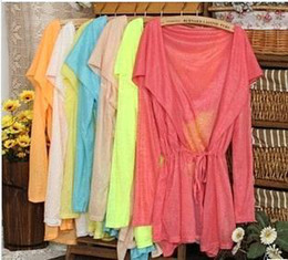 Wholesale women shirt Prevent bask in summer clothes with long sleeves with cultivate one s morality coat color
