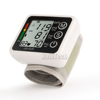 Wholesale EMS FREE Automatic Digital Wrist Blood Pressure and Pulse Monitor Sphygmomanometer Portable Blood Pressure Monitor Health Care