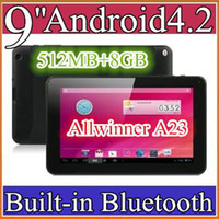 Wholesale 10PCS cheap inch Dual camera core Android Tablet PC MB GB GHz Allwinner A23 Bluetooth Ebook Reader