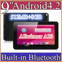 Wholesale 100PCS cheap inch Dual camera core Android Tablet PC MB GB GHz Allwinner A23 Bluetooth Ebook Reader