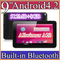 Wholesale 50PCS cheap inch Dual camera core Android Tablet PC MB GB GHz Allwinner A23 Bluetooth Ebook Reader