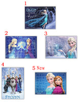 Wholesale In Stock Frozen Puzzle Anna Elsa Princess Olaf Cartoon Jigsaw Puzzle For Children Adults Toys Novelty Gifts sets