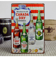 Tin beer signs canada - 20 cm CANADA DRY Beer Metal Signs Bar Pub Decor Tin Sign Decorative Painting Vintage Plaques