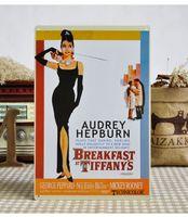 20cm X 30cm/8inch x12inch audrey hepburn film - 20 cm AUDREY HEPBURN Film Poster Tin Sign Retro Plaques Bar Pub Decor Retro Signs