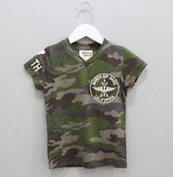 Boy Summer Standard 2014 NEW kids boys t-shirts boy children camouflage t-shirt cool short sleeve summer B14515