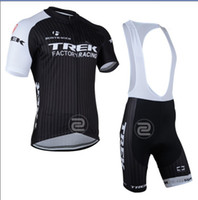 Wholesale 2014 Outdoor Sports TREK Road Sportswear Mens Clothing Cycle Wear Skinsuitteam Bike Bicycle Cycling Jerseys Shirt Bibs Shorts Sets