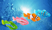 Wholesale New LED Novel Robofish Electric Toy Robo Fish Emulational Toy Robot Fish Electronic pets Creative Baby toys
