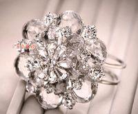 Wholesale High end Luxury Bride Wedding Bracelet Beautiful Three dimensional Crystal Flower Hand Bracelets lt lt