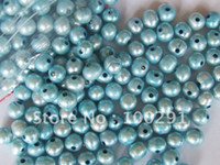 Wholesale Free ship mm turquoise freshwater pearl beads loose beads with mm hole