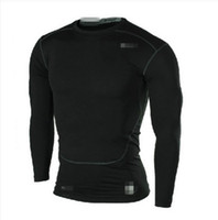 Men Spandex / Polyester  2014 Original Genuine New Pro Combat Man's T-Shirt Sexy Sports Gym Fitness Workout Tights Bodybuilding long sleeve