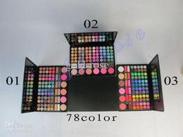 Wholesale makeup color set color eye shadow er Powder lip gloss blush
