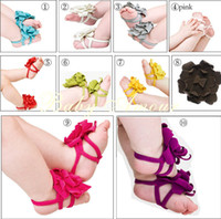Wholesale 10pairs FASHION top baby Foot flower Baby Sandals Barefoot Sandals Baby Shoes Toddler Shoes