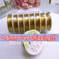 Other Jewelry Findings Silver 20pcs Gold plated 0.6mm 7meter pcs Jewelry bead making copper wires beading wires tools accssories