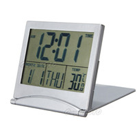Mechanical Plastic 77 mm Electronic Simple Desktop Digital LCD Thermometer Calendar Date Weather Station Alarm Clock Snooze Multi-function Free Shipping