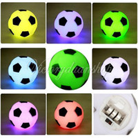 Wholesale Changing Colorful LED Football Soccer Light Lamp Night Party Holiday Decoration Xmas Gift Present For Children