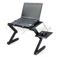 Lapdesks Yes 52.7 cm 360 Degree Portable Folding Black Metal Laptop Notebook Computer Stand Table Desk Bed Office Sofa Tray Free Shipping