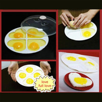 Wholesale Hot Kitchen Microwave Oven Eggs Heart shaped Poacher Cooker Steamer Cook Cookware