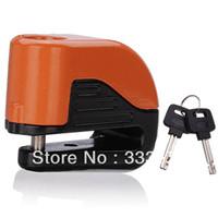 Wholesale 10mm Security Motorcycle Motorbike Sturdy Wheel Disc Brake Lock Safety Alarm key New