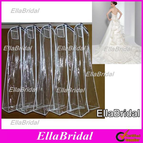 In stock no logo cheap white plastic waterproof long for Wedding dress travel case