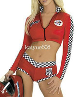 Wholesale fancy red Long Sleeve uniform Cheerleading Costumes Suit Drop Ship US4362