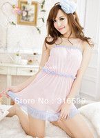Woman Harness Pajamas Polyester lingerie Free Shipping Fashion Nightie for Women See Through Nightdress with Thong Panties Clothing Set Dolls Wholesale Drop Ship US1405